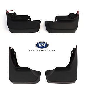 10-13 Buick Lacrosse Front & Rear Molded Splash Guard Package Black Genuine GM