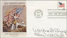 U.S. GRANT SHARP - FIRST DAY COVER SIGNED