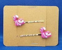 Alice Wonderland CHESHIRE CAT Animal - Handmade Bobby PIn Hair clips - Set of 2