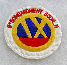 "50'S AF ""9TH BOMBARDMENT SQDN H"" EMB ON TWILL COTTON CE NEAT EARLY VAR 3 5/8"" W"