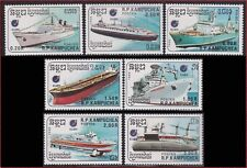 CAMBODGE Kampuchea N°809/815** Bateaux 1988 CAMBODIA 860-866 Ships NH Kambodscha