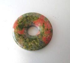 Edelstein ~ Unakit ~ Donut ~ Anhänger ~~ 30 mm