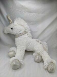 "Dan Dee White Unicorn Plush 18"" Stuffed Animal Toy"