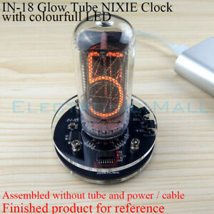 IN-18 Vintage Glow Tube Clock NIXIE Clock Electronic Vacuum Tube Clock Assembled
