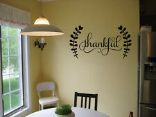 THANKFUL VINYL WALL DECAL KITCHEN HOUSE DECOR SIGN LETTERING WALL STICKER