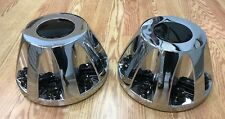 2011-2017 GMC Sierra 3500 1-ton Dually REAR Wheel Hub CHROME Center Caps PAIR