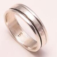 Solid 925 Sterling Silver Spinner Ring Meditation Ring Statement Ring Size sr673