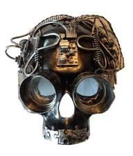 Silver Steampunk Skull Costume Half Mask Adult Mens Womens Masquerade Mardi Gras