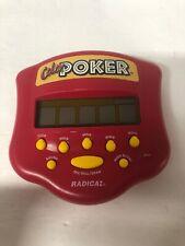 1999 Radica Color Pocket Poker Handheld Electronic Game Red Works