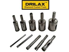 "Drilax 10 Pcs Diamond Drill Bit Set from 5/32"", 3/16"", 1/4"", 5/16"" to 1 inch"