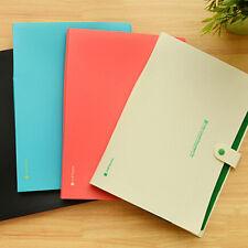 8 Plastique Pochette Classeur Dossier Archivage Format A4 Papier Document Bureau
