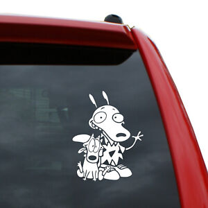"""Rocko's Modern Life - Rocko and Spunky Vinyl Decal   Color: White   5"""" tall"""
