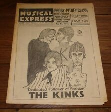 NME MAGAZINE PAPER 4 MARCH 1966 BEATLES KINKS HOLLIES THANE RUSSAL PJ PROBY WHO