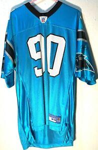 CAROLINA PANTHERS NFL AMERICAN FOOTBALL SHIRT JERSEY REEBOK PEPPERS #90 VINTAGE