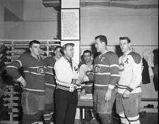 Jean Talbot,Toe Blake, Emile Bouchard, Ken Mosdell 1958 Canadiens  8x10 Photo