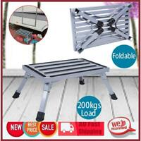 Portable Folding Step Stool Platform Safety Step Ladder Stool Aluminium Caravan