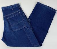 VTG  Pointer Brand Mens Carpenter Jeans Loose Fit Lightweight Denim USA SZ 34x30