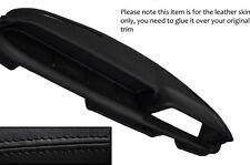 Costura negra Dash Dashboard Leather Skin Tapa se ajusta Bmw 2002 E10 ti Tii