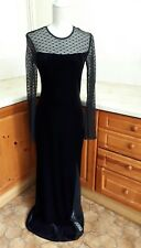 LONG TALL SALLY ~ LADIES LONG BLACK DRESS ~ SIZE UK 10 ~ Gothic/Lace