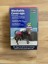 Top Paw Washable Cover-ups XL 55-90 lbs Waist 22-35 in. Purple And Pink