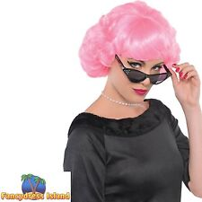 PINK FRENCHIE PIG BOB WIG KATIE PERRY HAIR ladies womens fancy dress costume