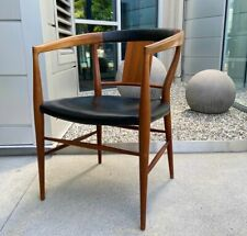 Stunning Danish Modern Mid Century Teak & Leather Armchair