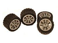 "LEGO City / Technic ""ALLOY"" WHEELS set of 4 Tire + Wheel 24 x 14 mm sports car"