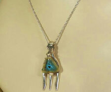 Artsy Vintage Porcelain Fork Necklace Great 4 A Waitress 545D5