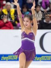 Ice skating dress.Purple Fringe tassels Skirt Competition Figure Skating Dress
