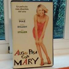 ALGO PASA CON MARY (Bobby Farrelly) VHS . Cameron Diaz Matt Dillon Ben Stiller