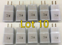 10Pk Adaptive Fast Charging Wall Charger For OEM Samsung Galaxy s7 S8 S9+ Note 8