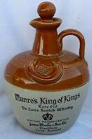 Munro's King of Kings Rare Old Scotch Whisky Empty Stoneware Pottery Jug