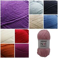 Sirdar No.1 Chunky Beautifully Soft Knitting Crochet Wool Yarn 100g