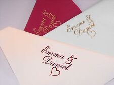 100  Personalised 40cm Dinner 3 Ply  Wedding  Napkins