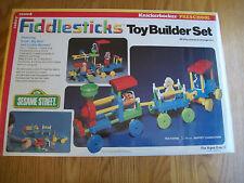 Vintage NIB Fiddlesticks Sesame Street Knickerbocker Building Set Game 1978 MIB
