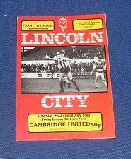 Lincoln City -v- Cambridge United 1986-1987