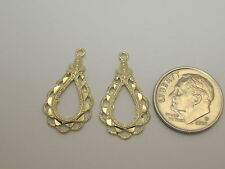 Solid 14k Yellow Gold Earring Jackets S800
