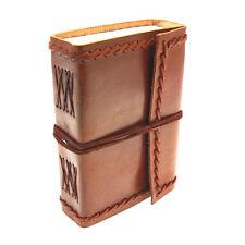Fair Trade handgemacht klein gestickt Leder Zeitschrift Tagebuch Notizbuch