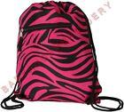 Drawstring Cinch Sack Backpack Zebra Hot Pink
