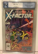 X-FACTOR # 1 PGX NM-9.2 First X-Factor+1st Cameron Hodge+1st Rusty Marvel 1986