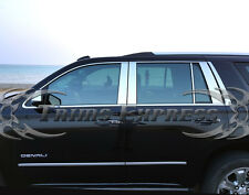 2015-2017 Chevy Tahoe/GMC Yukon 8Pc Chrome Pillar Post Stainless Steel Trim