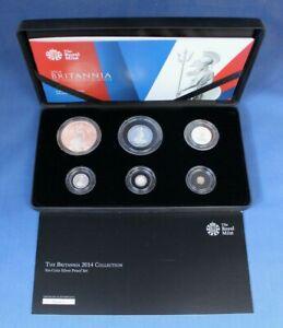 2014 Silver Proof Britannia 6 coin Set in Case with COA