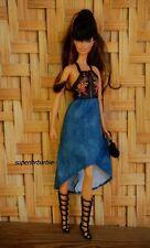 BARBIE RESORT FASHIONS Rose Halter Dress and Roman Sandals