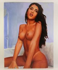 Art Oil painting, original handmade, Nude Girl, canvas 12 × 16 inches