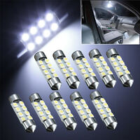 10x 36mm C5W 8 SMD LED 3528 1210 Blanc Voiture Feston Ampoule Lampe Plafonnier