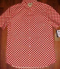 VANS Off The Wall Red Checkers Winsor Surfing Skating Skateboard Shirt M New NWT