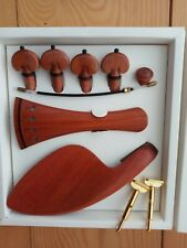 VIOLIN FITTINGS 4/4, LUXURIOUS PERNAMBUCO, PEGS, TAILPIECE, CHIN REST, END PIN!