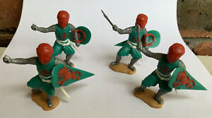 Timpo Medieval Foot Knights - Vintage Plastic Figures - 1970's  Britain