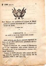 REGIO DECRETO UMBERTO 1 SEPARAZIONE COMUNE DI MARTIGNANO DA LECCO doc7