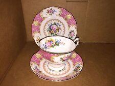 3 Piece Set Royal Albert Lady Carlyle Tea Cup, Demitasse Saucer & Bread Plate